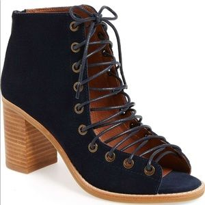 Jeffrey Campbell Cors Booties, Navy, 6